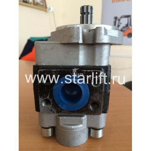 Насос гидравлический С240 двигатель, 10 шлицов, бок. подс. (CBHZA-F32-AFL)