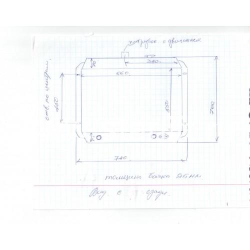 Радиатор водяной двигателя 6102 CPCD50-70 (А847ВIZ.3.2 )
